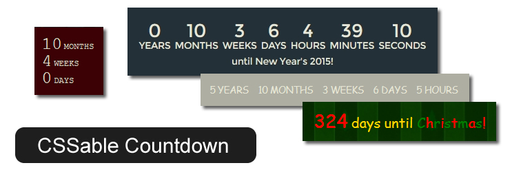 Banner image for CSSable Countdown plugin